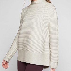 Athleta funnel neck wool sweater